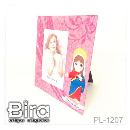 porta retrato vidro sagrado coracao maria