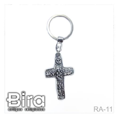 chaveiro cruz papa