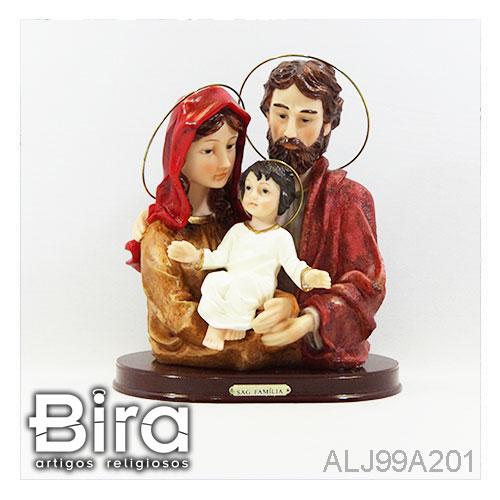 busto sagrada familia resina 22cm