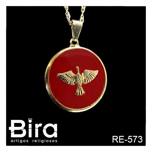 corrente, medalha, divino, espirito santo