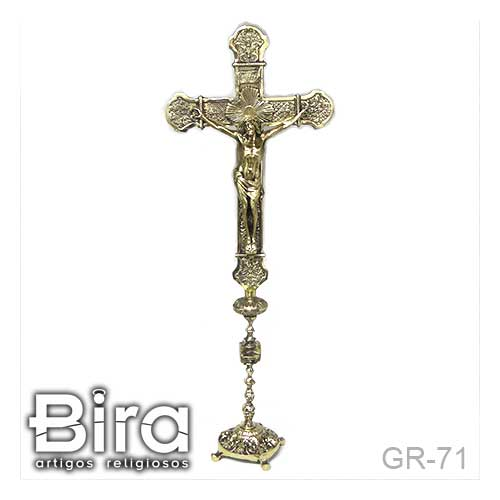 crucifixo, bronze, pedestal