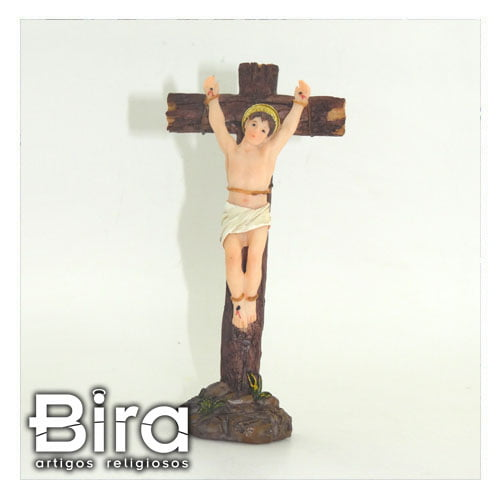 Bira Artigos Religiosos - Crucifixo São Dimas de Resina - 11x21 -  Cód. ALJB281