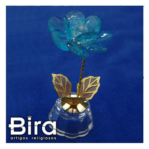 cristal flor trabalhada