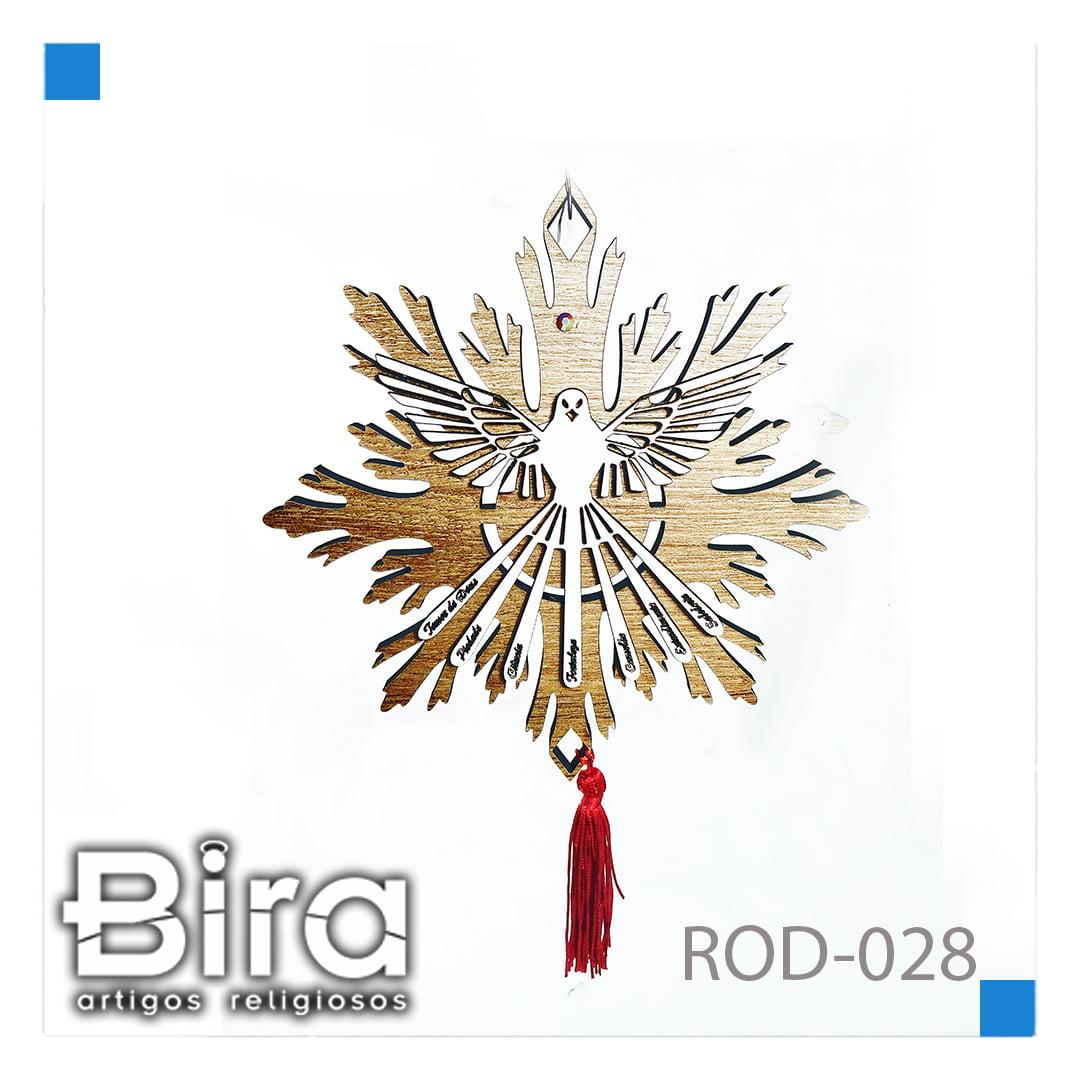 Bira Artigos Religiosos - DIVINO COM STRASS 7 DONS - CÓD. ROD-028