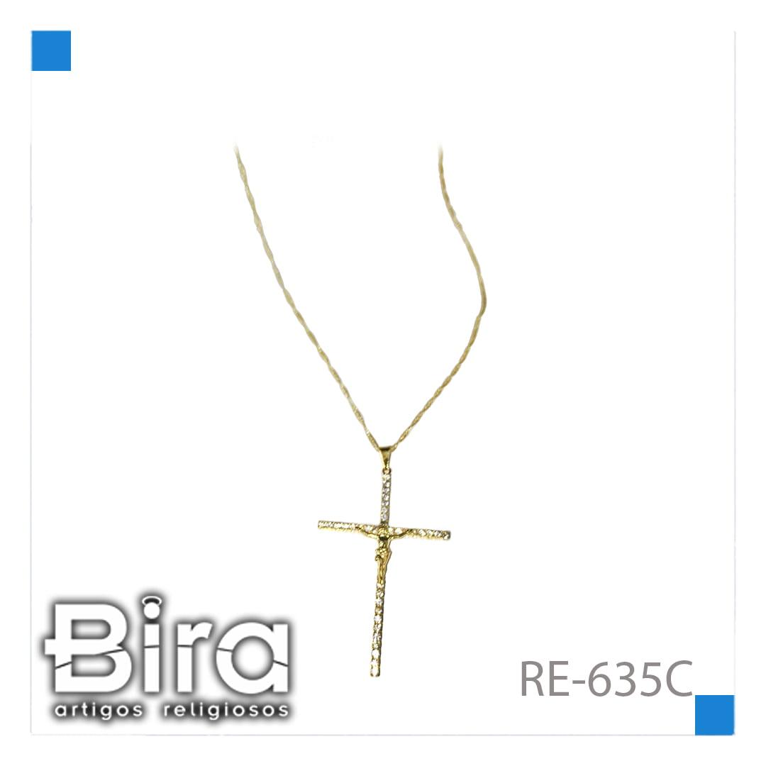 Bira Artigos Religiosos - CORRENTE CRUZ GRANDE C/ STRASS - CÓD. RE-635C