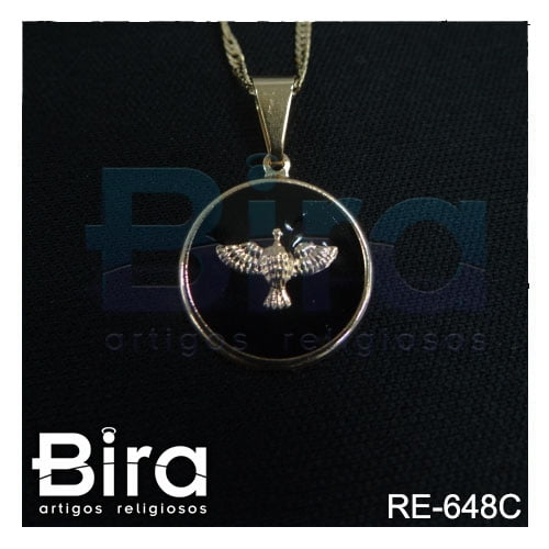 corrente medalha divino espirito santo