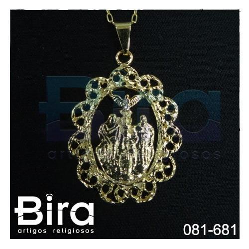 corrente medalha divino pai eterno dourada