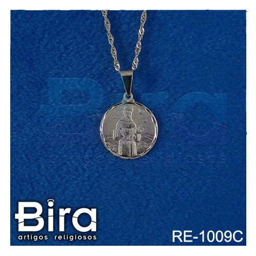 corrente medalha redonda sao francisco