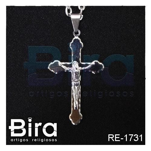 corrente crucifixo inox