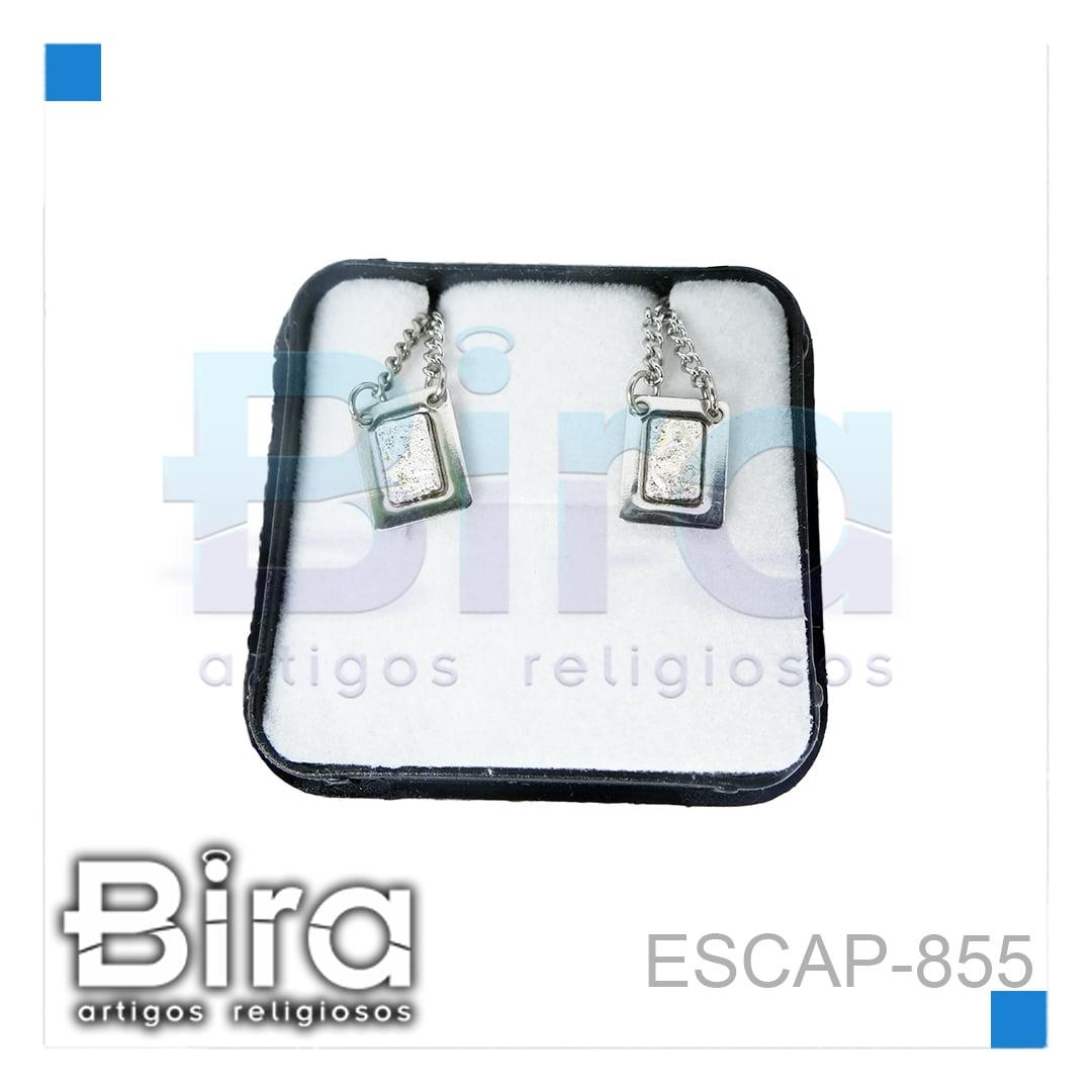 Bira Artigos Religiosos - ESCAPULARIO INOX MINI CARMO MEIO PRATA - CÓD. ESCAP-855