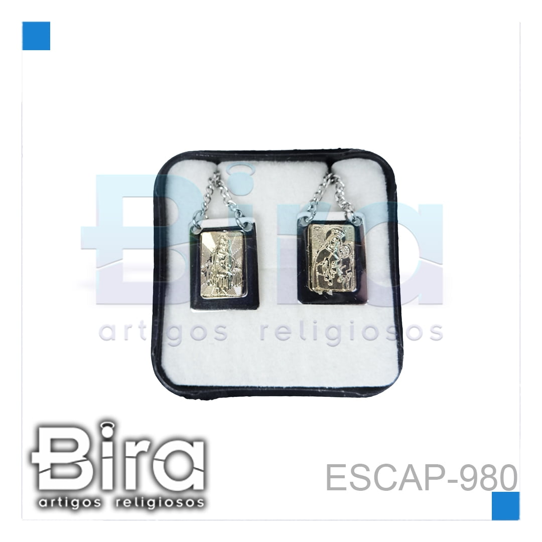Bira Artigos Religiosos - ESCAPULARIO INOX FOLHEADO - CÓD. ESCAP-980