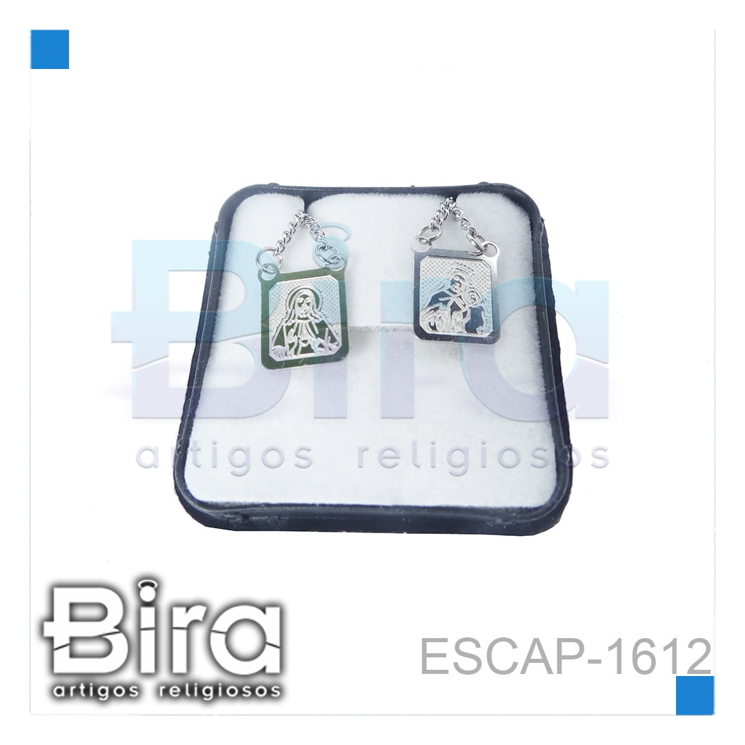 Bira Artigos Religiosos - ESCAPULARIO INOX PLACA ÚNICA - CÓD. ESCAP-1612