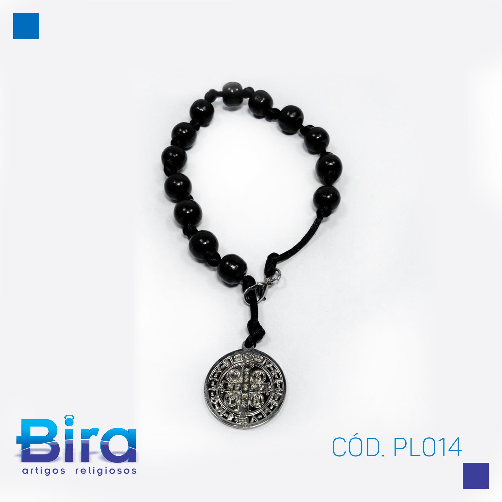 Bira Artigos Religiosos - PUL MADEIRA  N10 C/FECHO SAO BENTO 3 UNI - CÓD. PL014