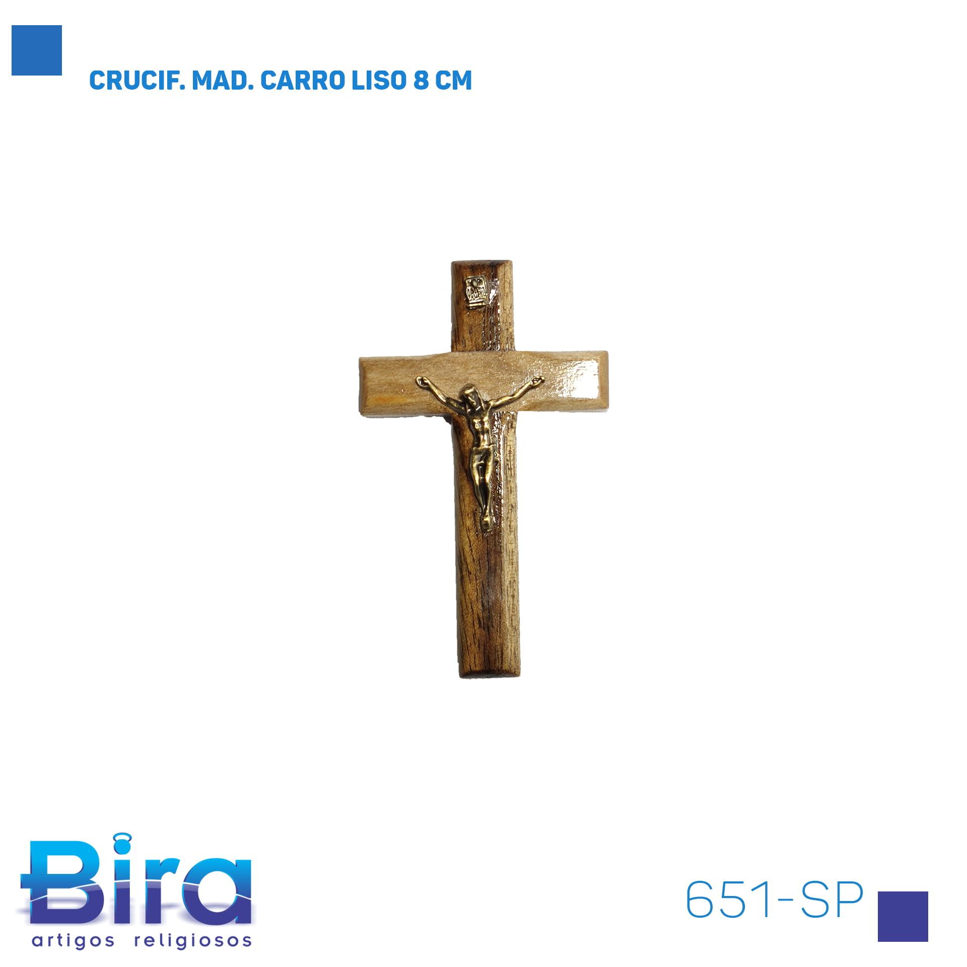 Bira Artigos Religiosos - CRUCIF. MAD. CARRO LISO 8 CM Cód. 651-SP
