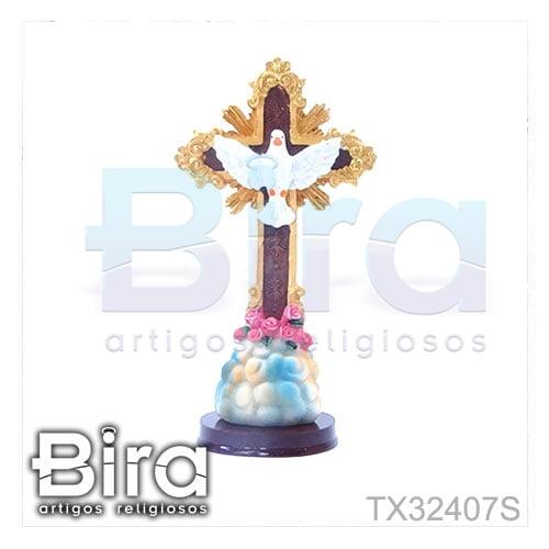 cruz pedestal divino espirito santo resina