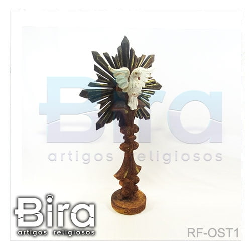 divino espirito santo resplendor pedestal madeira