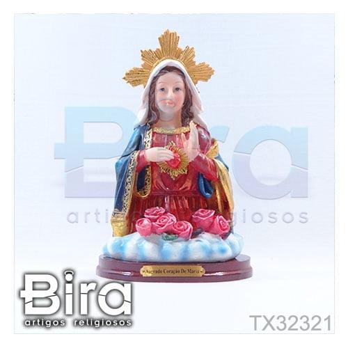 busto sagrado coracao maria 20cm
