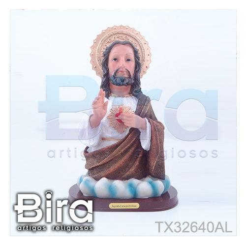 busto sagrado coracao jesus 32cm
