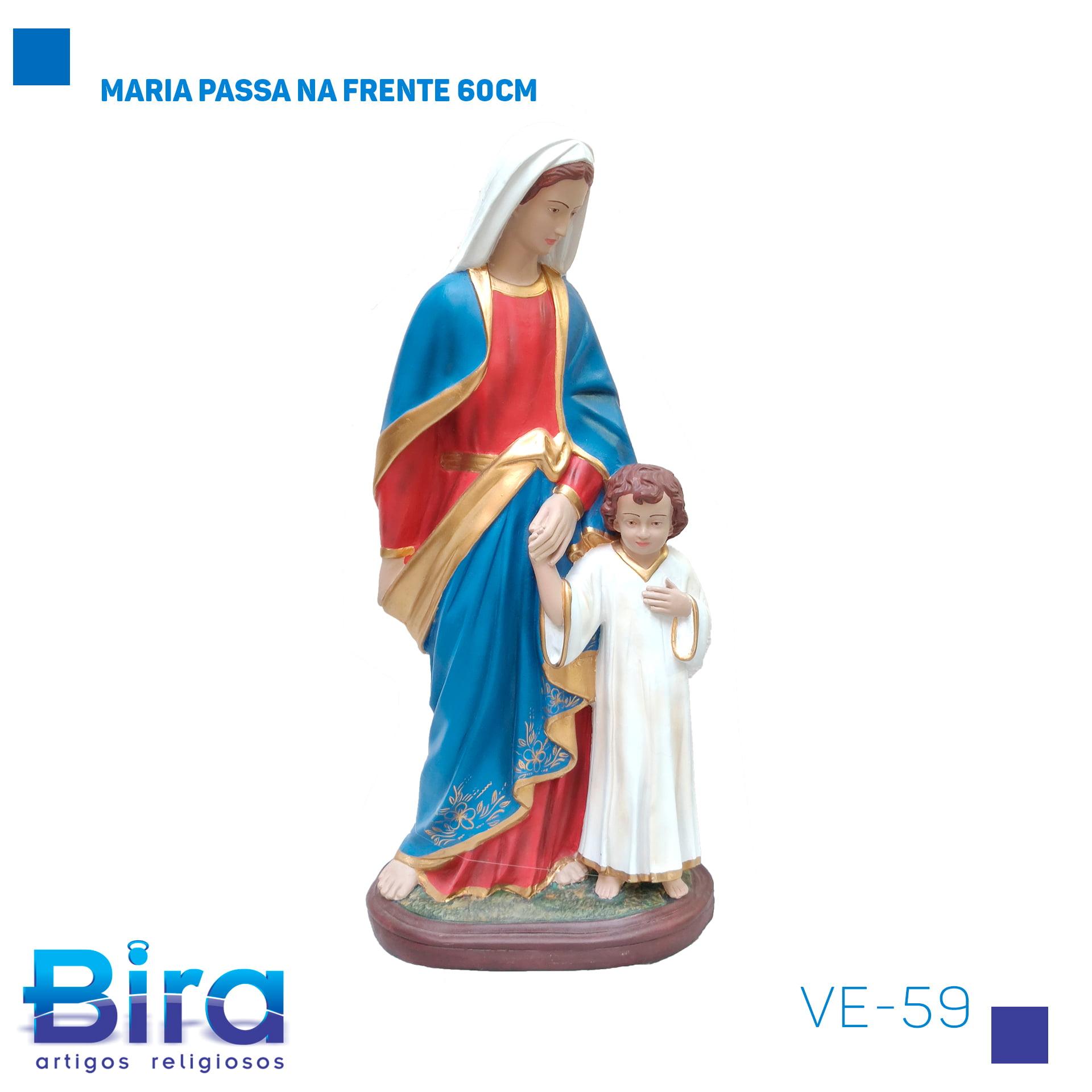 Bira Artigos Religiosos - MARIA PASSA NA FRENTE 60CM Cód. VE-59