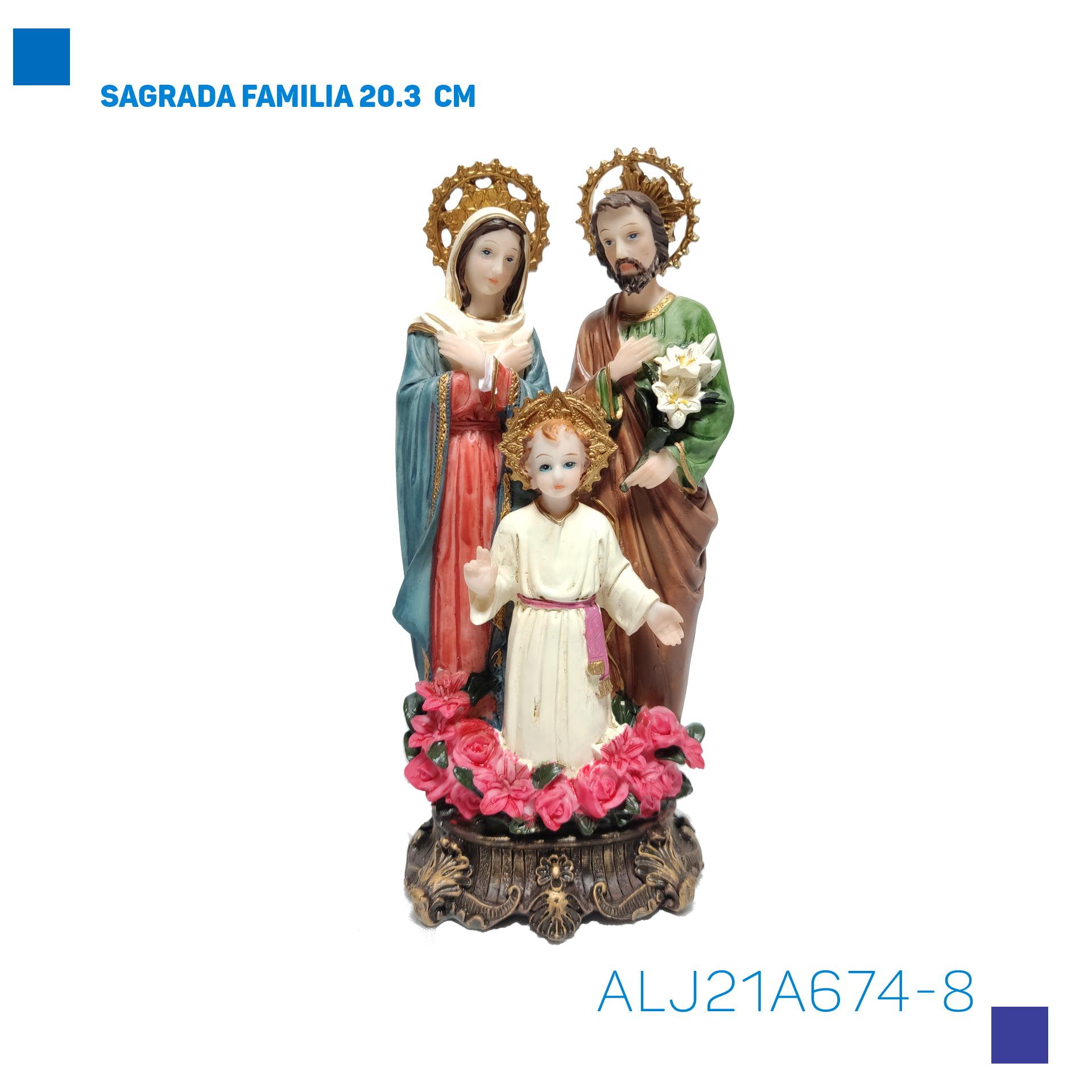 Bira Artigos Religiosos - SAGRADA FAMILIA 20.3  CM - Cód. ALJ21A674-8