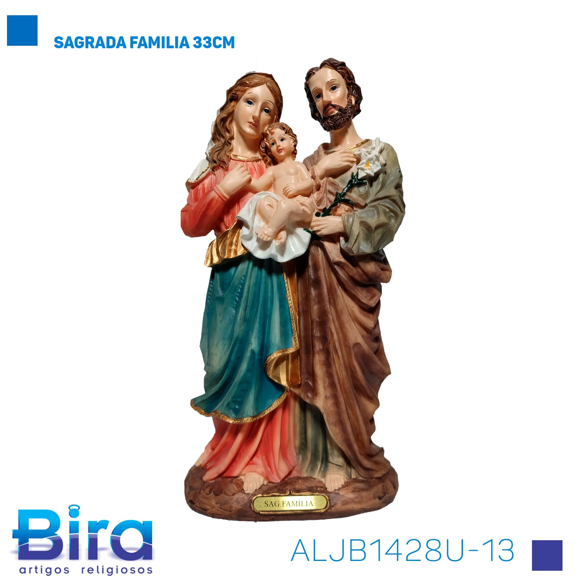 Bira Artigos Religiosos - SAGRADA FAMILIA 33CM Cód. ALJB1428U-13