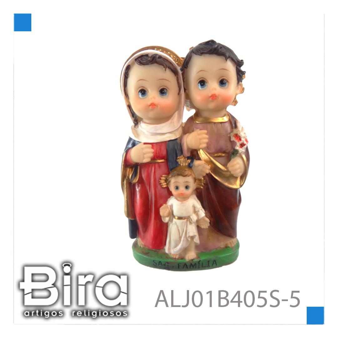 Bira Artigos Religiosos - SAGRADA FAMILIA INFANTIL DE 12,7 CM - CÓD. ALJ01B405S-5