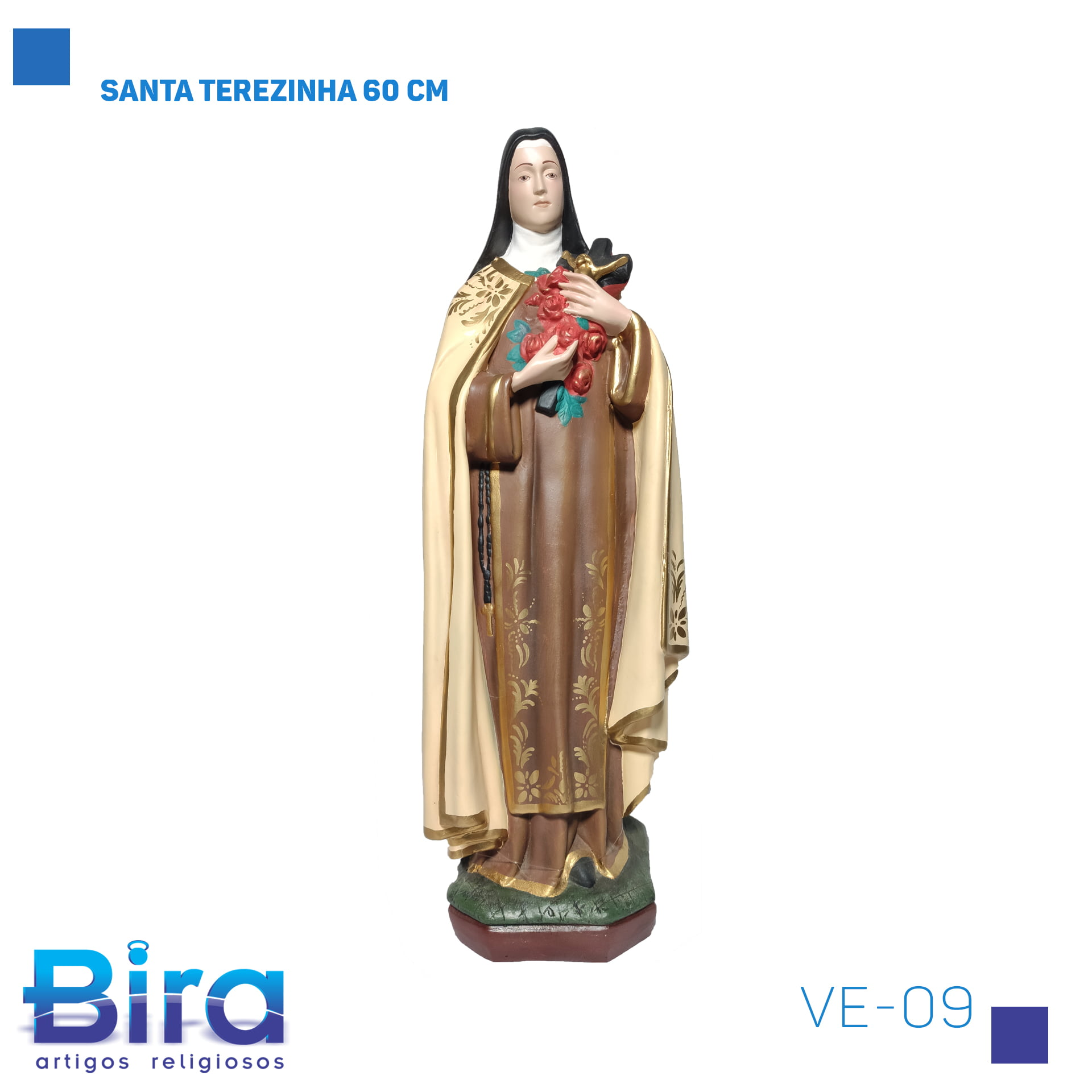 Bira Artigos Religiosos - SANTA TEREZINHA 60 CM Cód. VE-09