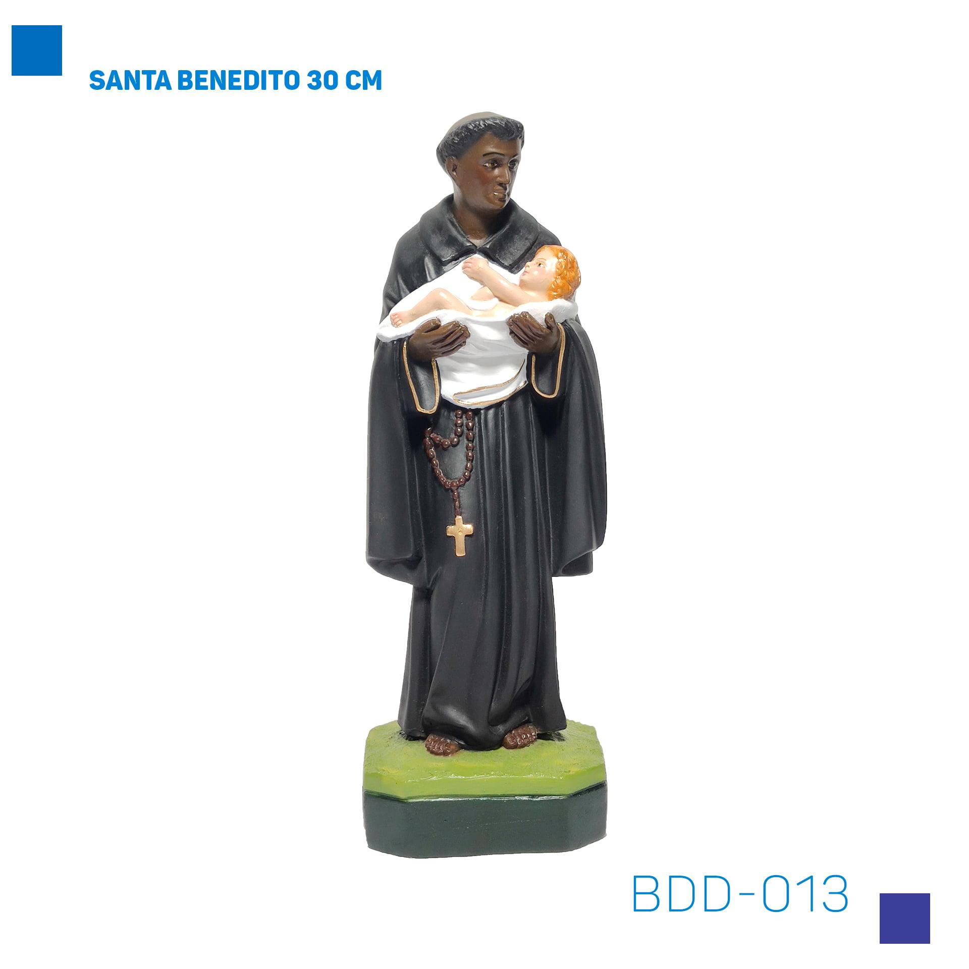 Bira Artigos Religiosos - São Benedito 30 cm - Cód. BDD-013