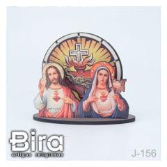quadro mesa sagrado coracao de maria e jesus