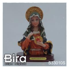 busto sagrado coracao de maria 12cm
