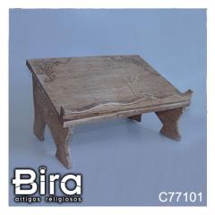 Porta Bíblia Grande em Madeira - 23x35cm - Cód. C77101