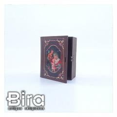 porta biblia estilo caixa madeira