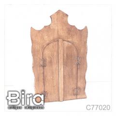 capela madeira lista porta