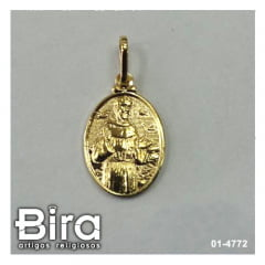 Medalha Oval Folheada São Francisco - Cód. 01-4772