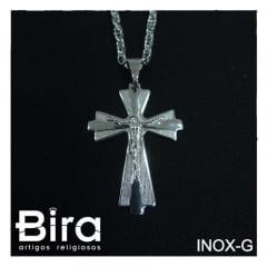 Corrente Crucifixo Inox - Grande - Cód. INOX-G