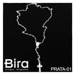 Terço de Prata 950 Pequeno - Cód. PRATA-01