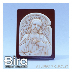 quadro sagrado coracao jesus resina