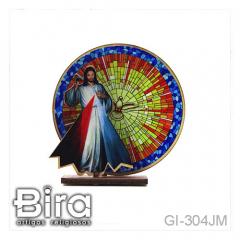 quadro mesa madeira jesus misericordioso