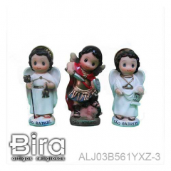 Trio Arcanjo Infantil - 8cm - Cód. ALJ03B561YXZ-3