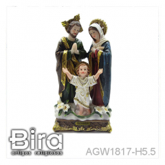 Sagrada Família - 14cm - Cód. AGW1817-H5.5
