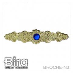 Broche em Metal Dourado Simples Para Manto - 7cm - Cód. BROCHE-N3