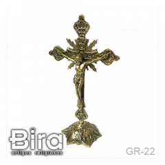 Crucifixo de Mesa em Bronze - 22cm - Cód. GR-22