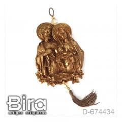 Quadro em Resina Busto Sagrada Família - 18cm - Cód. D-674434