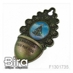 Pia Água Benta em Metal N. Sra. Aparecida - 8cm - Cód. F1301735