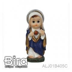 Sagrado Coração de Maria Infantil - 8cm - Cód. ALJ01B405C