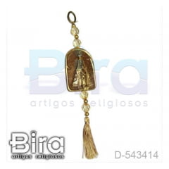 Adorno Dourado em Resina N. Sra. Aparecida - 9cm - Cód. D-543414