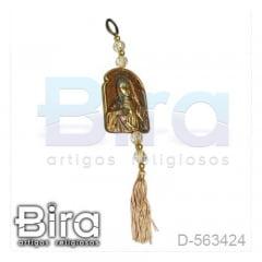 Adorno Dourado em Resina Sagrado Coração de Maria - 9cm - Cód. D-563424