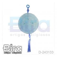 Adorno em Resina Azul Medalha de São Bento - 10cm - Cód. D-243133