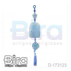 Adorno em Resina Azul Sagrado Coração de Maria - Cód. D-173123