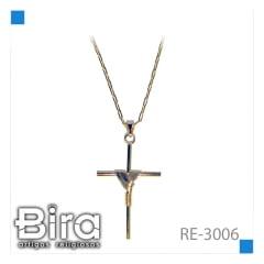 Bira Artigos Religiosos - CORRENTE FOLHEADO CRUZ - CÓD. RE-3006